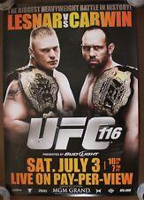 Official UFC 116 Lesnar vs Carwin Poster 27x39 (Near Mint)