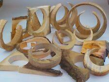 Box of circular wood offcuts. Jewellery display, art & craft, sculpture. 10kg