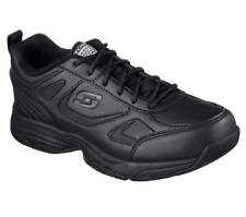 $292 Skechers Women Black Dighton Memory Foam Sneakers Work Shoes Size 8.5