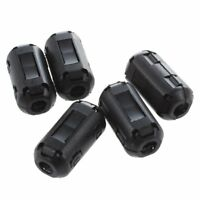5 Pcs Black Noise Suppressor Ferrite Core Filter for 4mm Dia Cable X9V6