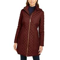 Via Spiga Women's Quilted Mid-Length Warm Winter Jacket with Attached Hood