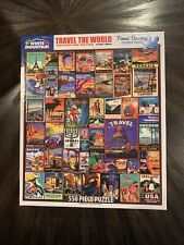 White Mountain 550 piece puzzle - TRAVEL THE WORLD - Larger Pieces
