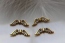 Metal bead Angel Wing Angel Wings Spacer antique gold 20,5 x 7,5 x 3mm