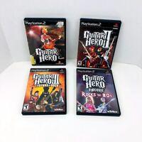 Guitar Hero 1 2 3 Encore Rocks The 80's I II III PS2 Video Game Lot 4 Games