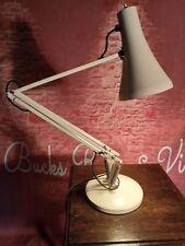 Vintage Retro Modernist Anglepoise Style Table Desk Light Lamp White Adjustable