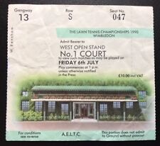 Wimbledon Tennis Ticket 1990 Number One Court Friday 6th July