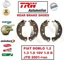 FIAT Dobl Cargo 05-09 1.3 MULTIJET BOX Multijet Multifiamme 83bhp Scarpe TAMBURI DEL FRENO POSTERIORE