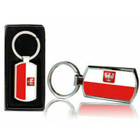 Poland Country Flag Printed Chrome Metal Keyring With Free Gift Box 0140
