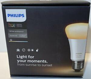 PHILIPS hue White Ambiance E26 Starter Kit 2 Bulbs & Hue Bridge