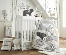 Levtex Baby Bailey Woodland 5 PC Crib Bedding Set + Bumper + Musical Mobile NEW