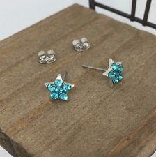 High Quality Aqua Star Titanium Post Stud Earrings US Seller Made in Korea