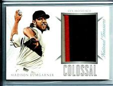2015 Panini National Treasures Madison Bumgarner Colossal D # 5/5 3-Color Jersey
