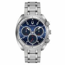 Reloj De Pulsera Bulova 96A185 para hombre Curv Esfera Azul Cronógrafo De Acero Inoxidable
