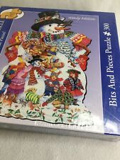 Bits and Pieces Brand Puzzle.Large Format Shaped. Winter Snowman. New, Sealed!