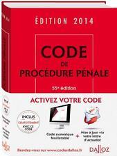 code de procédure pénale (édition 2014) Collectif Neuf Livre