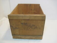 OLD WOOD-WOODEN MACINTOSH APPLE FRUIT PRODUCE CRATE BOX ADVERTISING NEW YORK