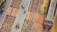 * Noch scala N 14622 attraversamento binari Laser Cut legno ecologico