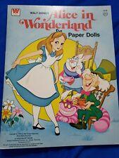 Whitman Walt Disney Alice In Wonderland Vintage 1976 Paper Dolls Book Uncut