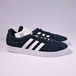 Size 12 Men's adidas VL Court 2.0 Sneakers DA9853 Black/White