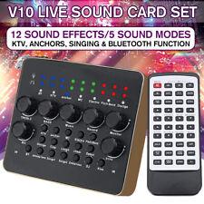 V10 Audio Live Sound Card Device Microphone Headset Mixer Phone  ↻ k q