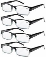 4-pack Spring Hinges Rectangular Reading Glasses