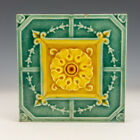 Antique M. T. W. Co Pottery - Embossed Majolica Tile