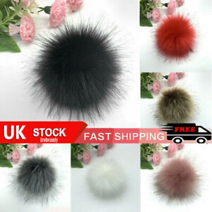 UK STOCK 10cm DIY Pompom Balls Faux Fur Ball For Pom Pom Hats Fluffy Accessories