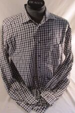 St. Croix Long Sleeve Button Up Shirt Men's Size Large Brown Black Plaid