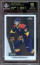 2015 leaf nc 90 leaf acetates #cmd CONNOR MCDAVID rookie (PRISTINE BLACK) BGS 10