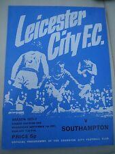 Leicester City V Southampton      1971/2