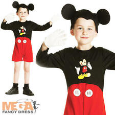 Mickey Mouse Disney Boys Fancy Dress Up Kids Childrens Child Costume Ages 2-6