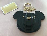 NWT MICHAEL MICHAEL Kors 3-D Bear Black Leather Bag Charm Key Chain~$68~Sold Out