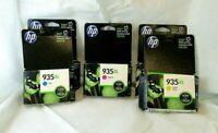 5 HP 935XL Color Ink Printer Cartridges 2 Cyan1 Magenta 2 Yellow Exp. 5/2017