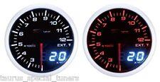 Manometro Temperatura Gas di Scarico 200-1200°C EGT DEPO Racing Dual View Nero