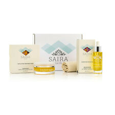 SAIRA Skin Care Gift Set Exfoliating Treatment Hydrating Facial Oil Muslin Cloth