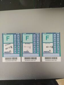 New Chicago to suburbs Metra 10-Ride Train Tickets Zone A-F (3 tickets)