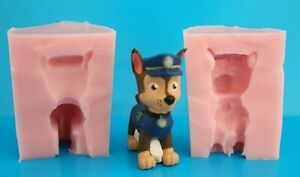 3D PAW PATROL CHASE SILICONE MOULD FOR CAKE TOPPERS CHOCOLATE, CLAY ETC