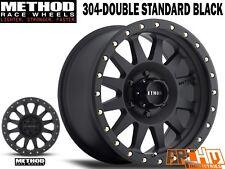 METHOD RACE WHEELS   15X8   304 DOUBLE STANDARD / BLACK  -24 OFFSET  4WD WHEELS
