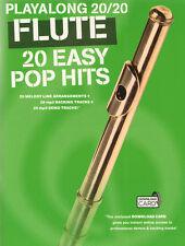 Playalong 20/20 Flute 20 Easy Pop Hits aktuelle Pop Songs Noten Querflöte