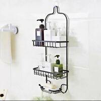 Home Shower Caddy Storage Iron Hanging Shelf Bathroom Elegance Organizer Rack B2