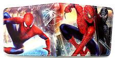 Spiderman hanging on Buildings Wallet purse 2 card slots id window