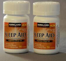 Kirkland Sleep Aid Doxylamine Succinate 25mg 192 Tablets 2 Bottles Sleeping Pill