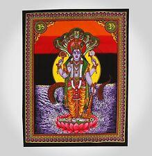 Indian Wall Hanging Lord Vishnu Hiipie Yoga Mat Ethnic Tapestry Table Cover Boho