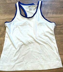 ADIDAS Stella Sport White Blue Logo Gym Athletic Training Tank Top Shirt wmns XS