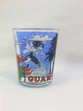 Guam Island Shot Glass with Beautiful Wrap-Around Dolphin Design Standard Size