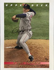 Roger Clemens Autographed 8x10 Baseball Photo Card (Upper Deck)