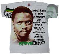 Steve Biko GRAY T-Shirt. ANC Tees. Melanated T-Shirts. South Africa Shirt.