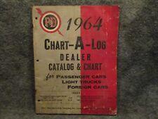 P&D 1964 Chart-A-Log Dealer Catalog & Chart For Cars & Light Trucks No. PD-10