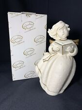 "Windsong Angels 7"" Angel Singing Choir w/ Book Figurine 1997 Roman Inc Italy"