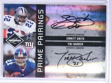 2009 Limited Prime Pairings Emmitt Smith Tiki Barber autograph auto #D6/25 *7190
